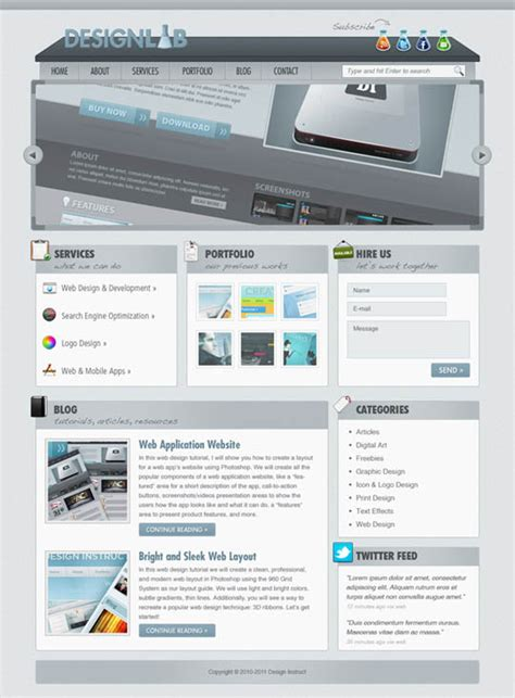 layout design for photoshop top 50 photoshop web layout tutorials from 2011 designbeep