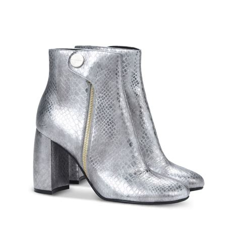 silver ankle boots alter snake silver ankle boots stella mccartney