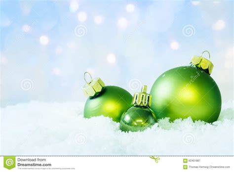 Times Promotes Green Holidays by Balls With Light Royalty Free Stock Photo