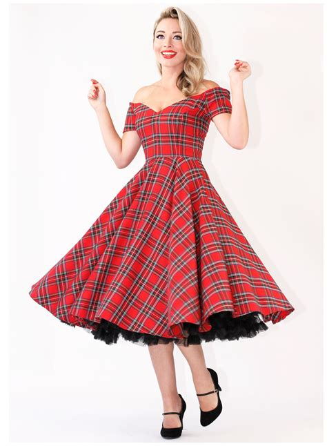 royal stewart tartan vintage 50s circle dress