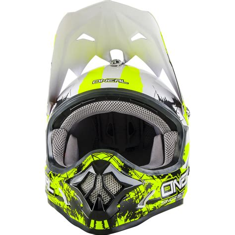 safest motocross helmet oneal 3 series shocker black neon yellow motocross helmet
