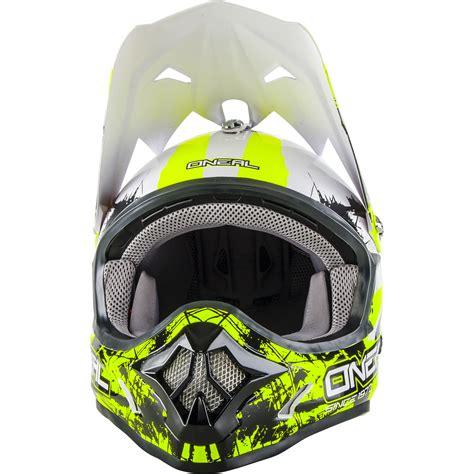 neon motocross gear oneal 3 series shocker black neon yellow motocross helmet