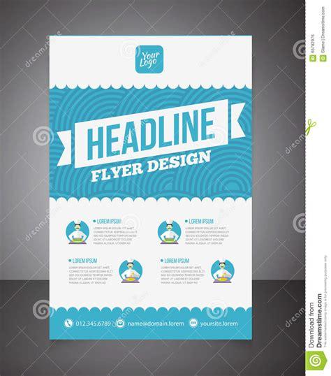 business brochure or offer flyer design template brochure