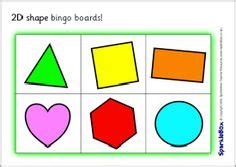 printable bingo cards with shapes shape on pinterest 2d eyfs and key stage 1