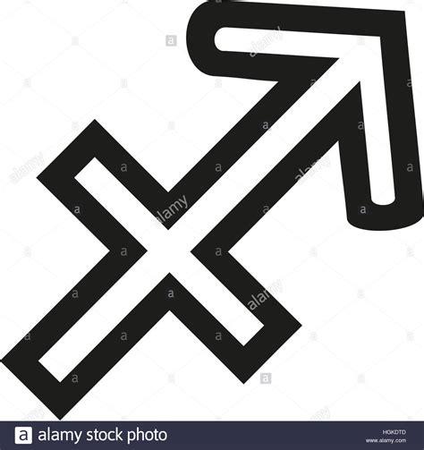 sagittarius zodiac sign outline stock photo royalty free
