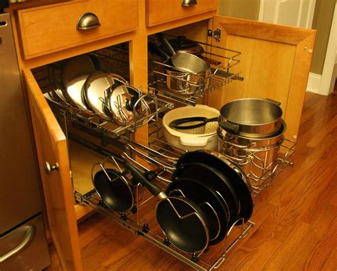 kitchen cabinet organizers for pots and pans stylish rev a shelf cookware organizer with rev a shelf x