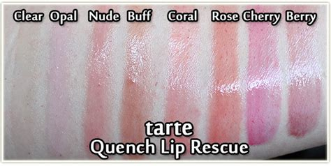 Tarte Quench Lip Rescue In tarte quench lip rescue collection review