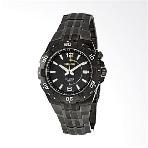 Jam Tangan Seiko Stainless jual seiko kinetic stainless steel jam tangan pria black