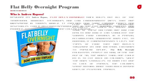 Flat Belly Overnight Detox Formula Recipe by Flat Belly Overnight Review Presentation