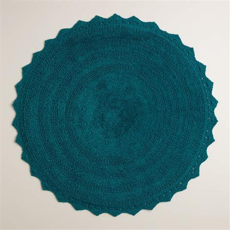 circular bath rugs ink blue bath mat world market