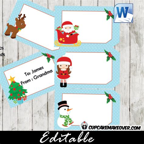 printable and editable christmas gift tags christmas gift tags editable labels instant download