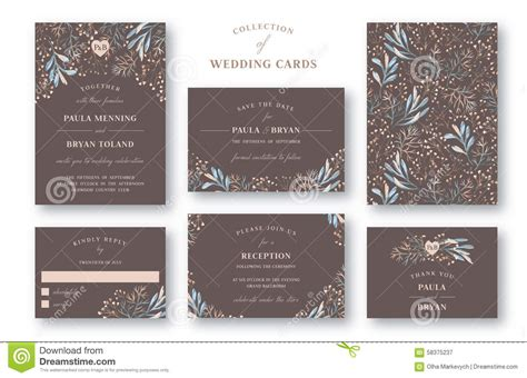 wedding reception thank you card template collection of wedding invitation stock vector image