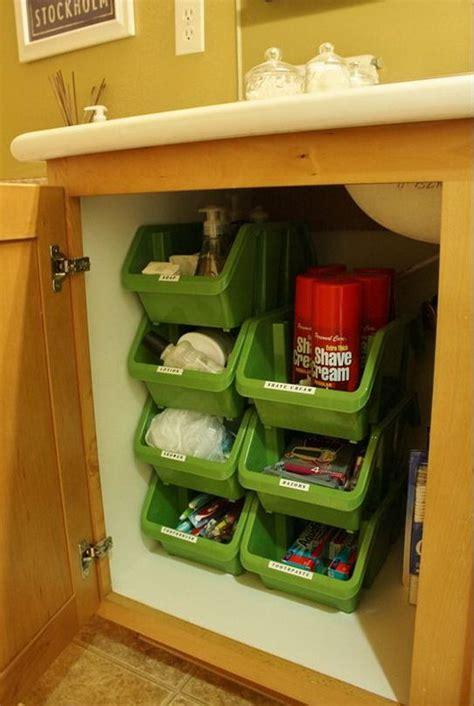 creative  sink storage ideas