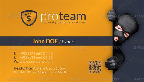 Security Systems Business Card Template by Security Systems Business Card Template By Grafilker