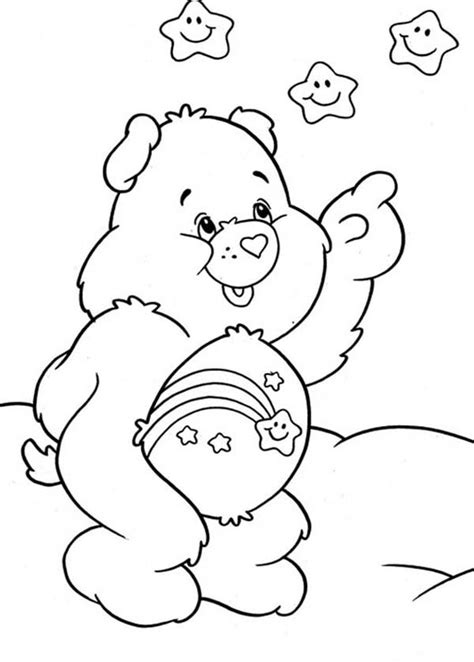 wish bear coloring pages wishing star coloring page coloring pages