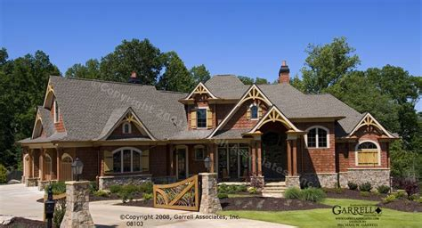 mountain style house plans garrell associates inc achasta house plan 08103 front