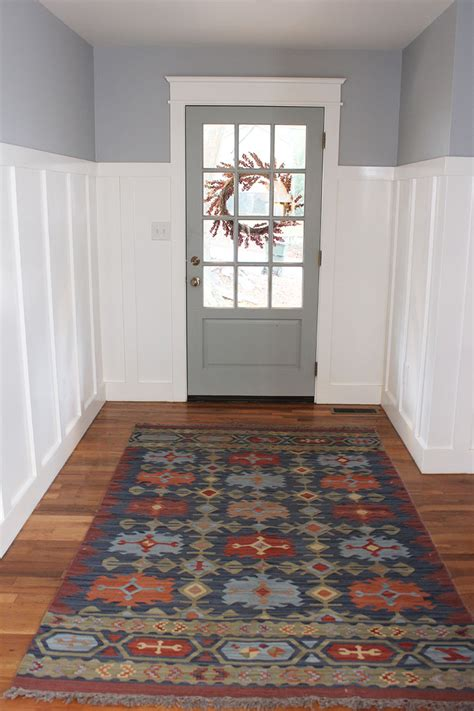 a new kilim rug for the entry thewhitebuffalostylingco