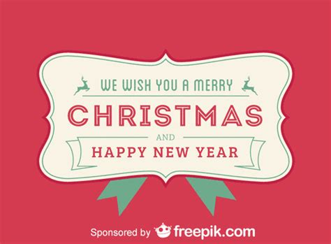 merry christmas      happy  year red backgrounds vector