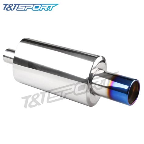 Tailpipe 5zigen Burn Tip 4 ryanstar racing high quality 3 inch outlet burn tip exhaust muffler turbo sound whistle 2 inch