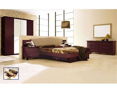 dark cherry bedroom furniture modern bedroom set in dark cherry made in italy 33b81