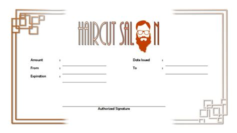haircut gift certificate template haircut gift certificate 2 the best template