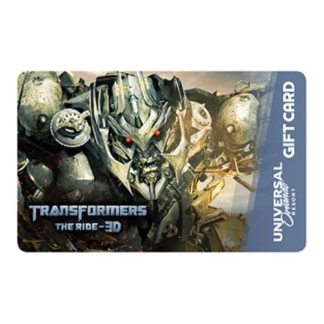 Gift Card Universal - your wdw store universal collectible gift card transformers megatron