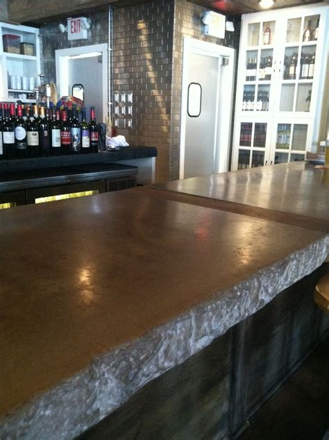 restaurant bar tops hand crafted restaurant bar top by 910 castings custommade com