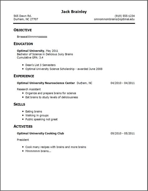 easy resume template for highschool students resume template learnhowtoloseweight net