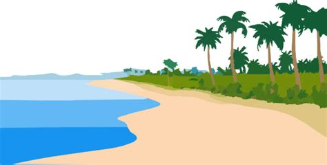 Beach Transparent by Beach No Sky Clip Art At Clker Com Vector Clip Art