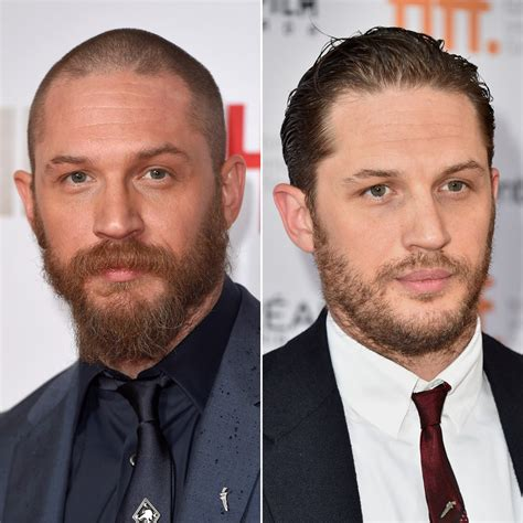 hairy before and shaved photos tom hardy male celebrities with hair vs shaved heads