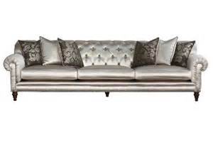 Tufted Sofa Tufted Back Metallic Chagne Sofa