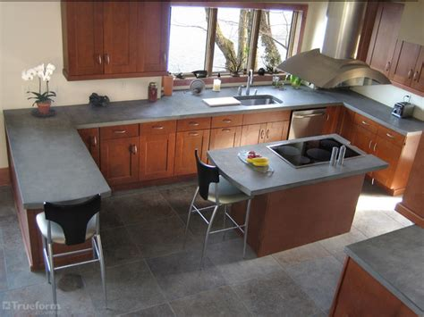 Cement Kitchen Countertops by Concrete Countertops Contemporary Kitchen New York