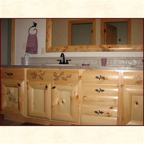 custom built wood bath vanities rustic and traditional