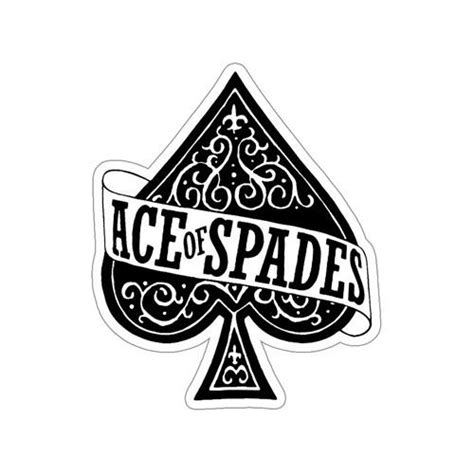 motorhead ace of spades sticker motorhead store