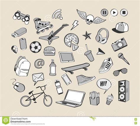how to create elements in doodle doodle icon set monochrome collection of