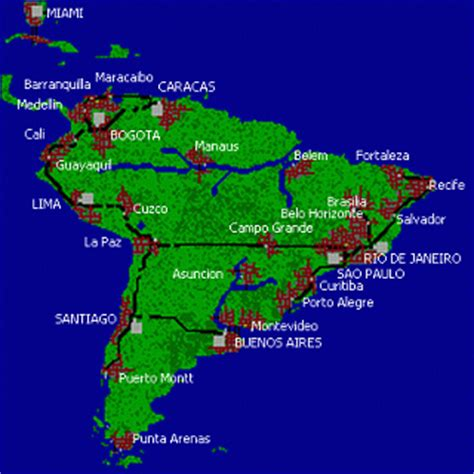 south america major cities map scenario miami to south america savegame simon bozolar