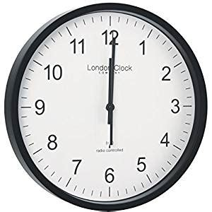 wall clock amazon co uk kitchen home rc 28cm simple wall clock finish black amazon co uk