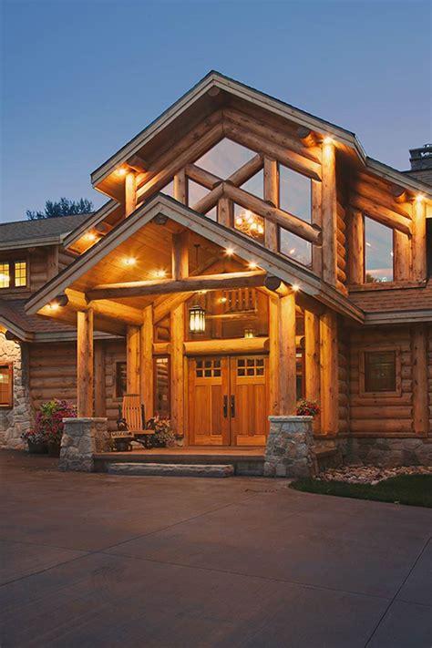 Wisconsin Front Door Housing Jackson Ii Log Home Floor Plan From Wisconsin Log Homes
