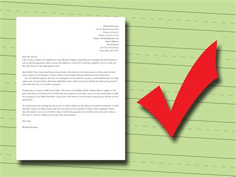 Complaint Letter Leaking Ceiling How To Write A Complaint Letter To Your Landlord 13 Steps