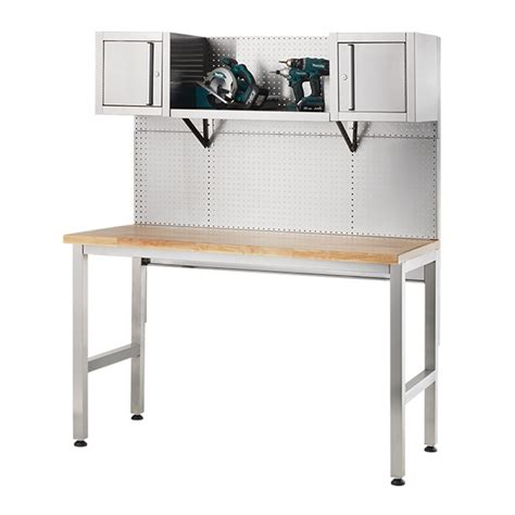 bunnings work bench ultimate stainless steel workbench bunnings warehouse