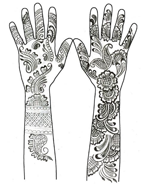 coloring pages henna art henna hand tattoos mandalas such pinterest henna hands