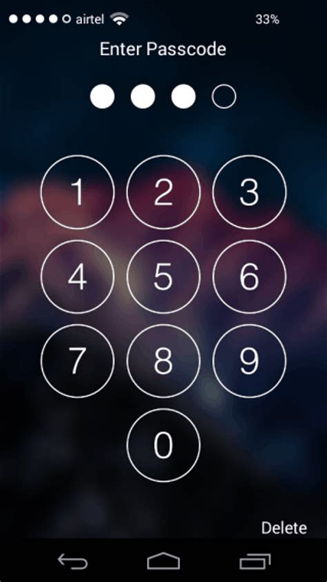 how to set an android lock screen pin password or unlock ios lock screen app for android ilockscreen 8 1
