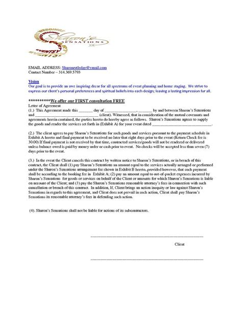 image result  home staging contract template
