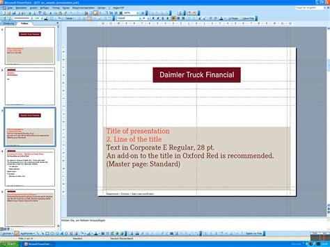 powerpoint layout querformat daimler powerpoint templates 2007 2008 messingerdesign