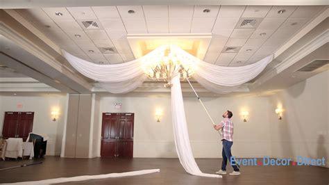 prefabricated ceiling drape kits instructional video youtube