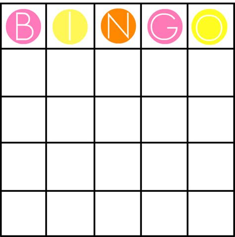 blank printable bingo card template 7 best images of free printable bingo card template free