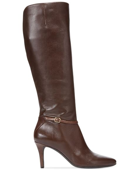 womans dress boots cole haan s garner dress boots in brown lyst
