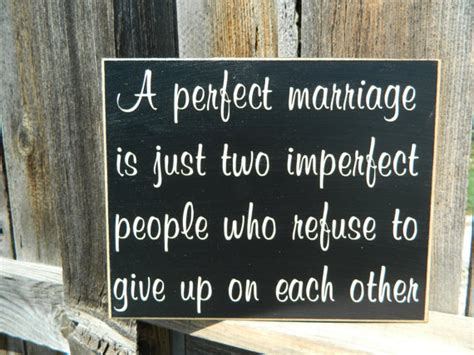 Wedding Bulletin Covers Inspirational Quotea Perfect Marriage Wood Sign