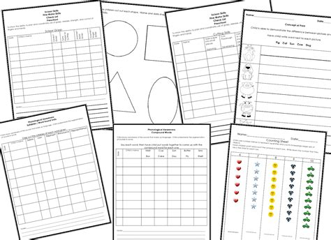 learning and teaching with preschoolers checklist and