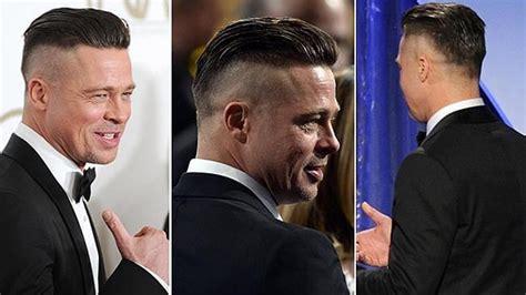 brad pitt s fury hairstyle
